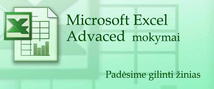 Excel mokymai